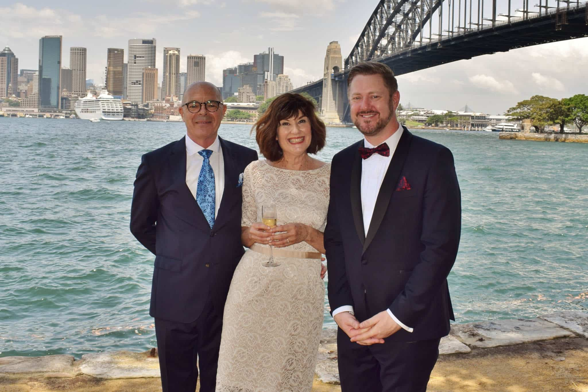 Simon and Liz Harbour Wedding - Stephen Lee Sydney Marriage Celebrant