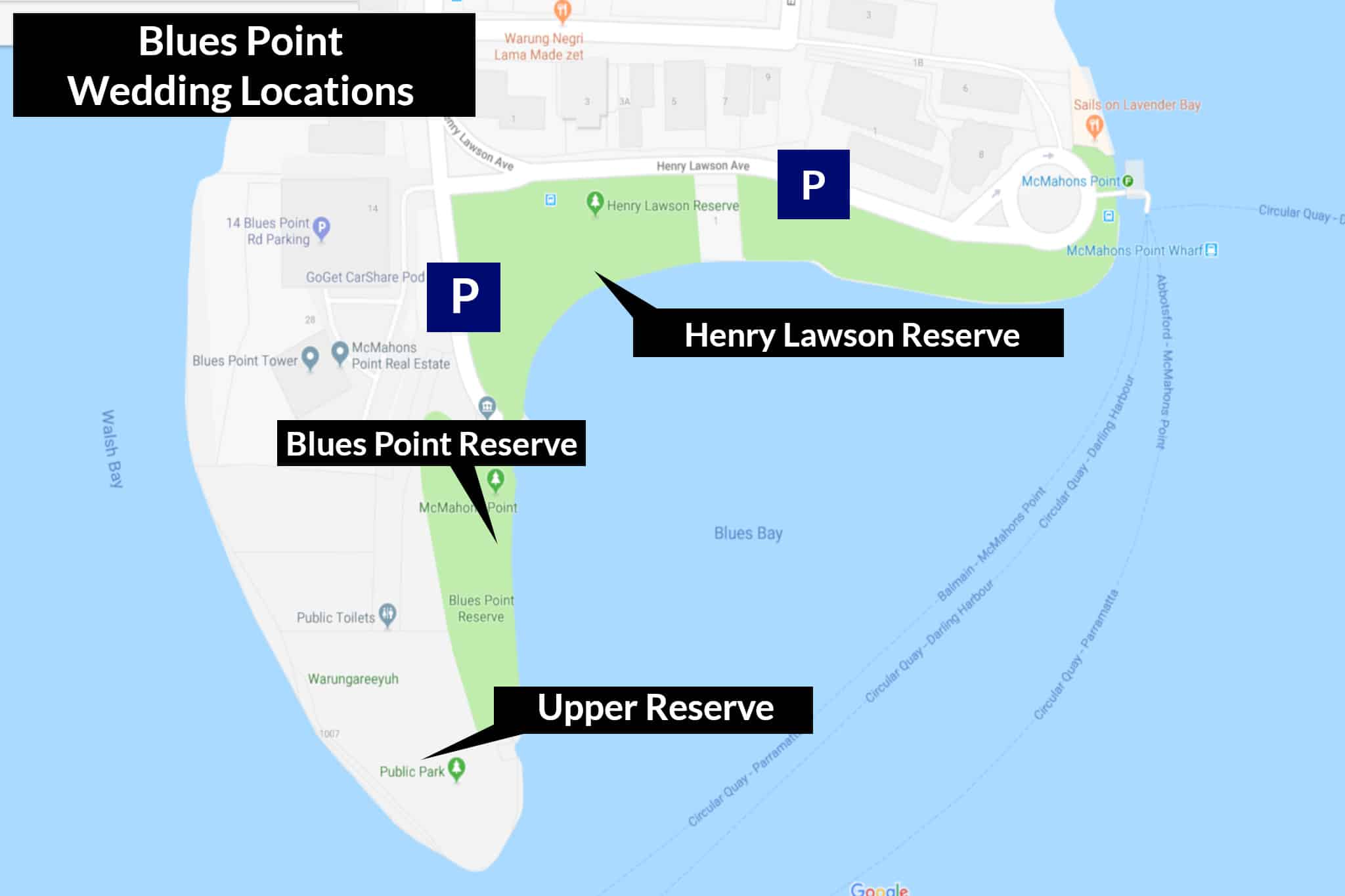 Blues Point Wedding Locations