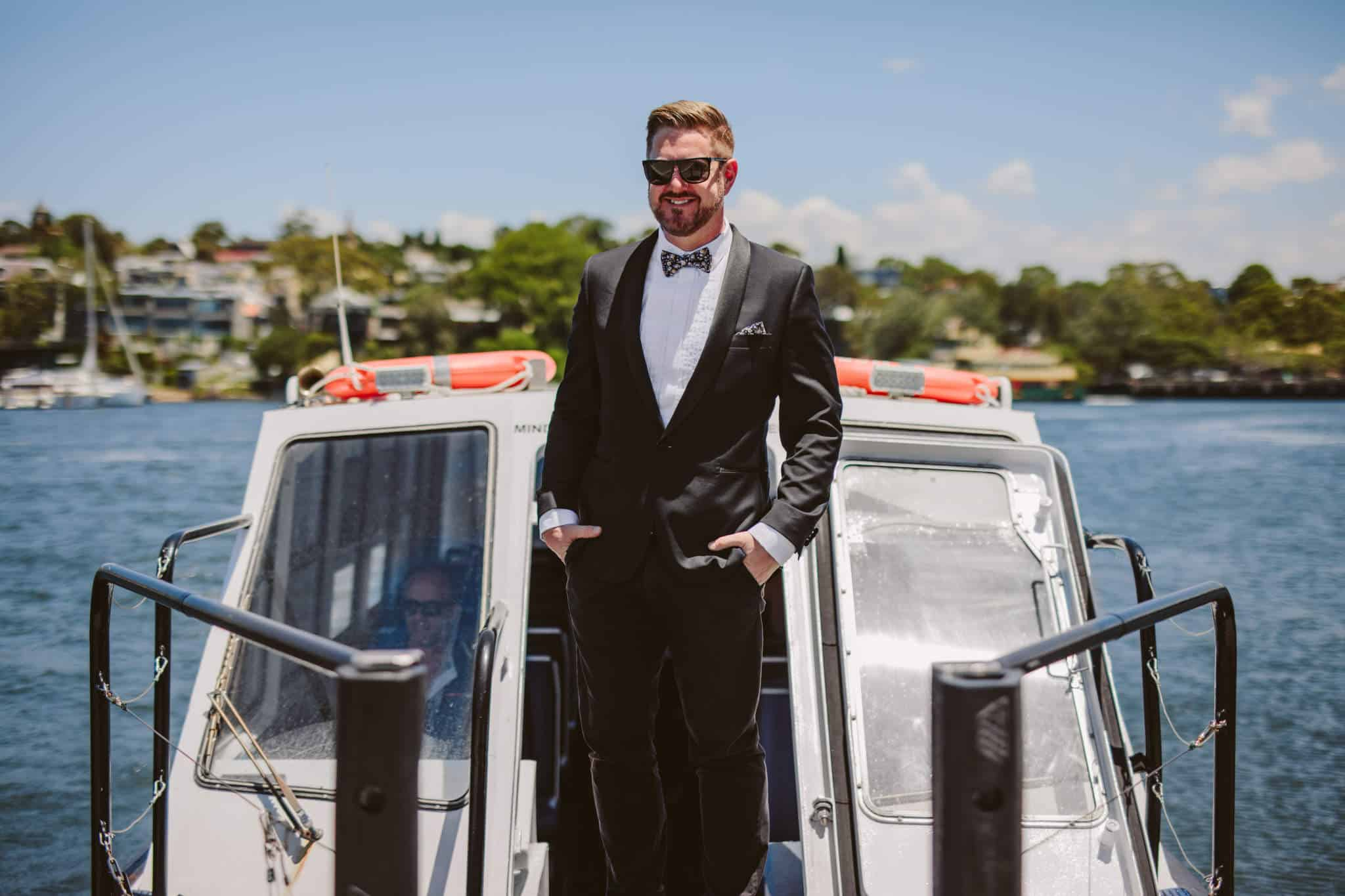 Kiss Me Quick Wedding - Harbour Boat - Stephen Lee Sydney Marriage Celebrant