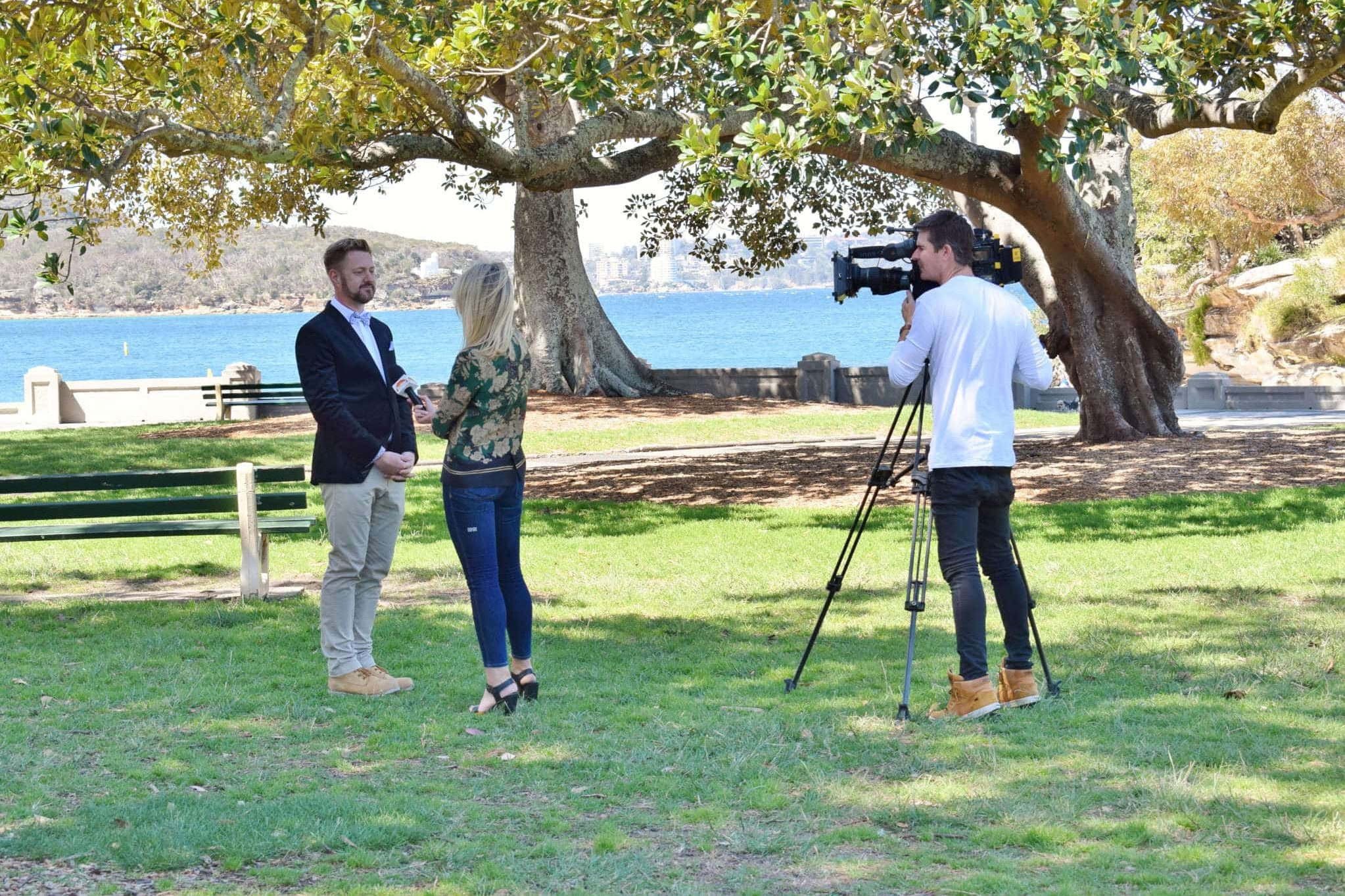 Channel 9 Today Interview - Sydney Marriage Celebrant Stephen Lee