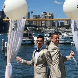 Lance and Joe - Sydney Marriage Celebrant Stephen Lee
