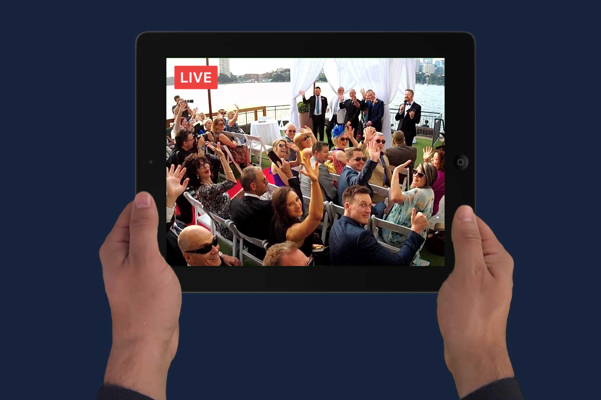 Livestream Camera Harbour Wedding - Stephen Lee Marriage Celebrant Sydney