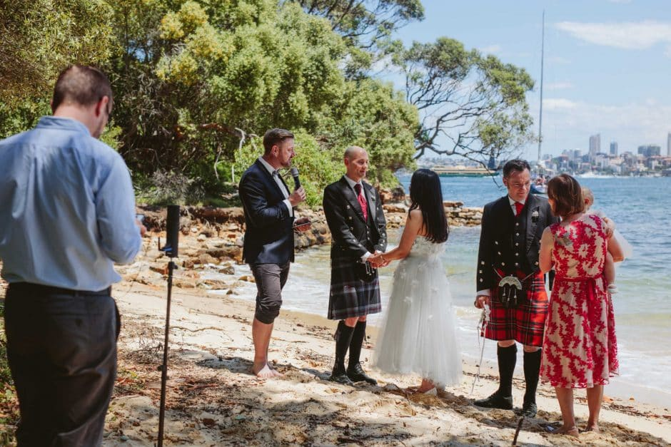 Livestream Camera on beach - Stephen Lee Marriage Celebrant Sydney