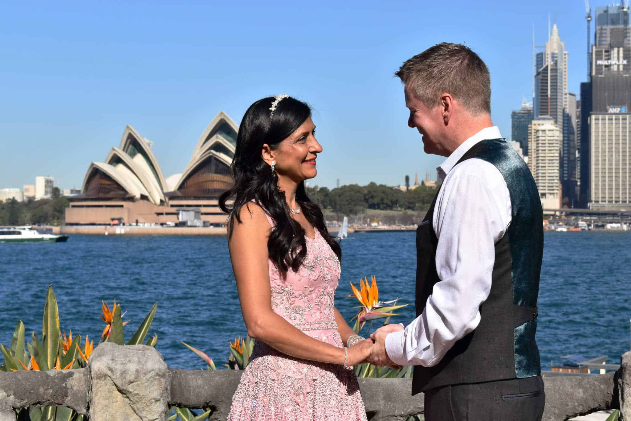 Justin and Nayana - Kiss Me Quick Wedding - Sydney Marriage Celebrant Stephen Lee