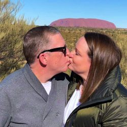 Uluru Wedding Kiss - Stephen Lee Marriage Celebrant Sydney