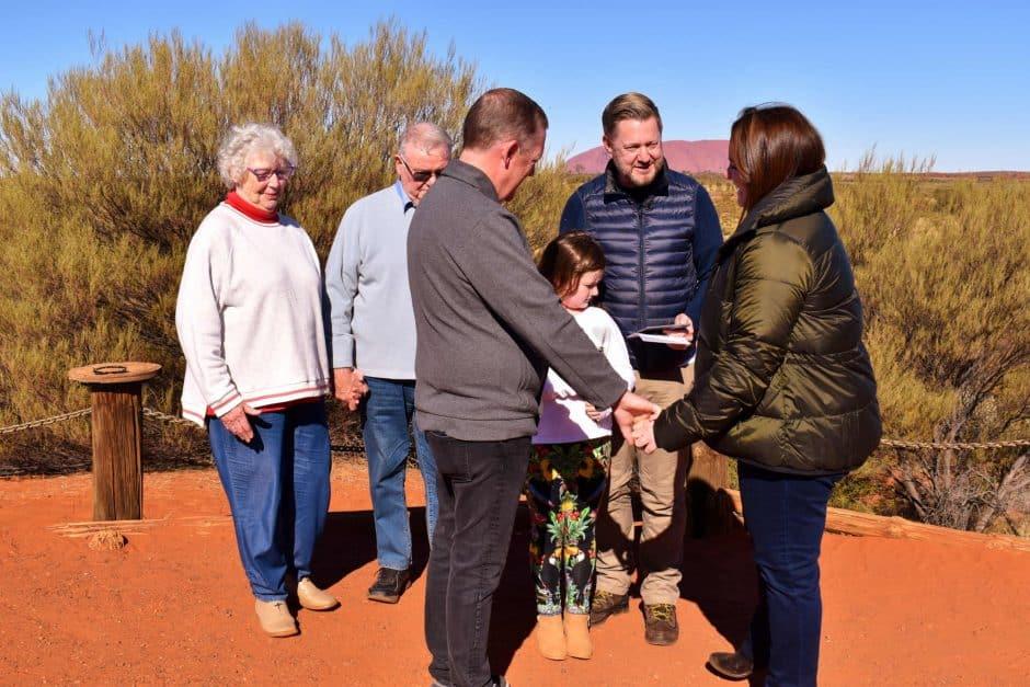 Uluru Wedding - Stephen Lee Marriage Celebrant Sydney