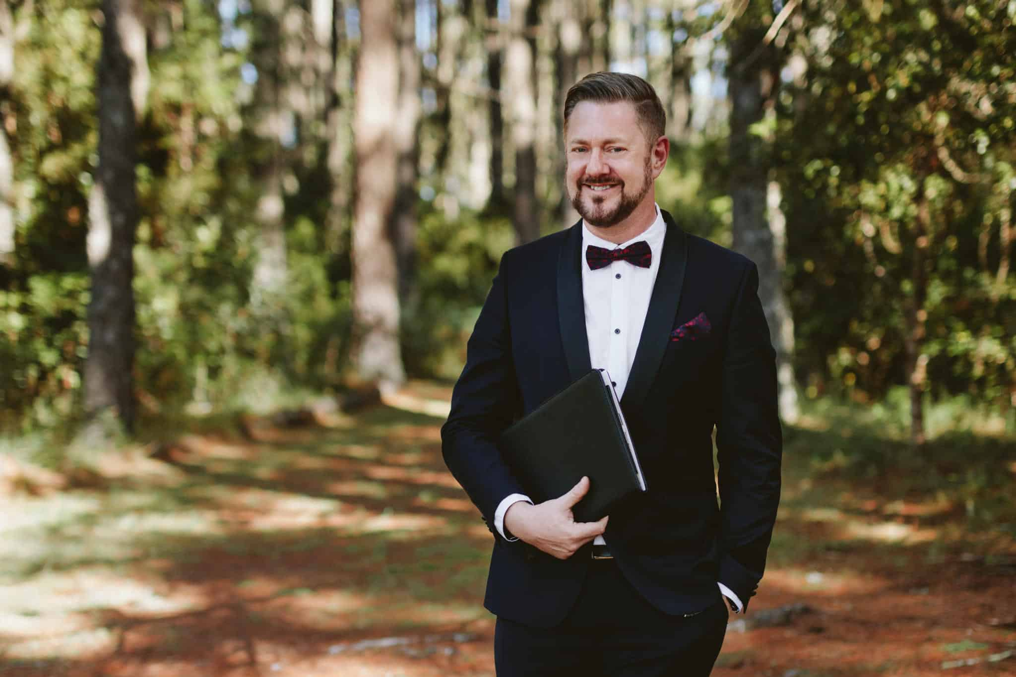 Woodland Wedding - Stephen Lee Sydney Marriage Celebrant Male