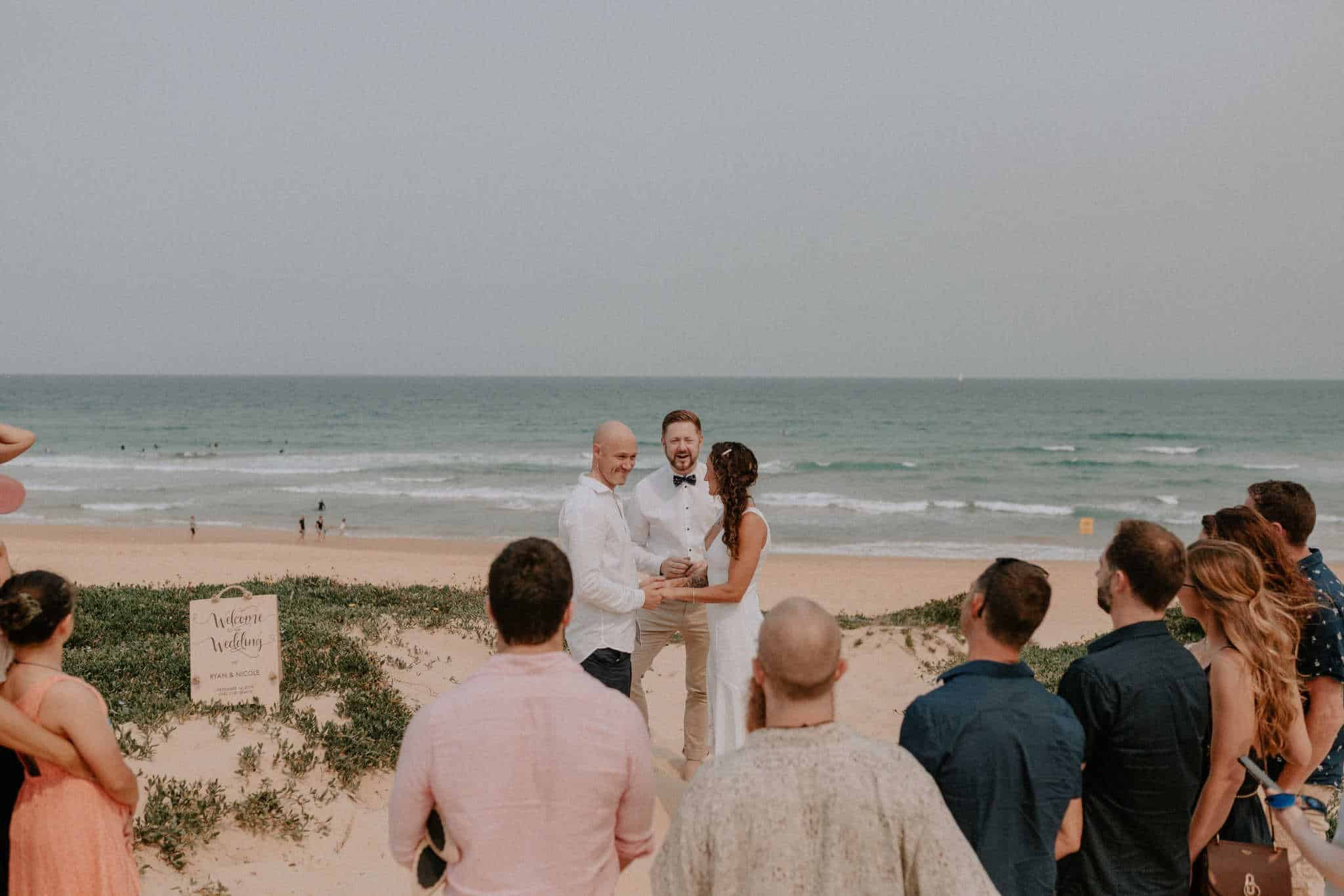 Curl Curl Beach Wedding - Sydney Marriage Celebrant Stephen Lee