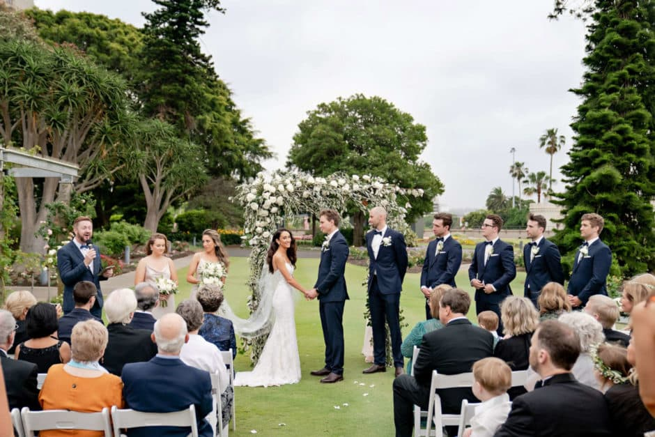 Livia and Darcy Royal Botanic Garden Wedding - Marriage Celebrant Sydney Stephen Lee