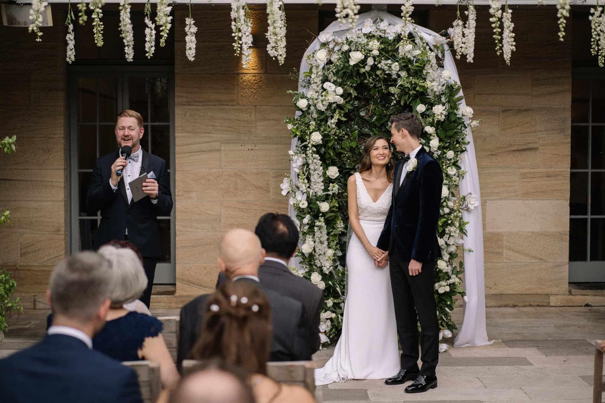 Gunners Barracks Wedding - Stephen Lee Marriage Celebrant Sydney Male