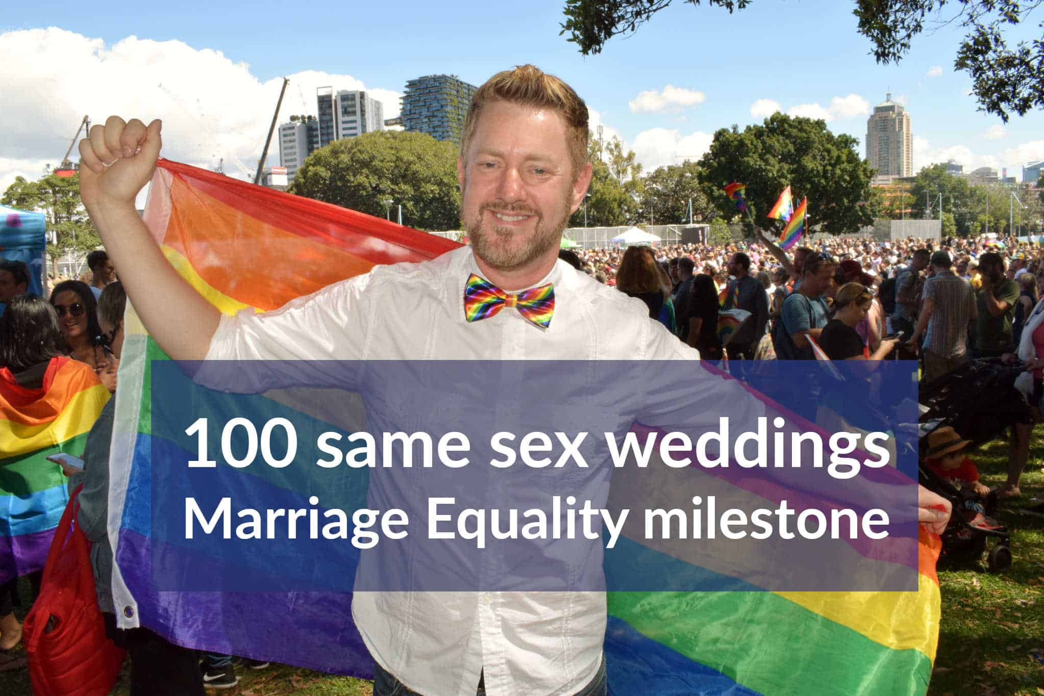 Stephen Lee Same Sex Marriage Celebrant Sydney 100 weddings