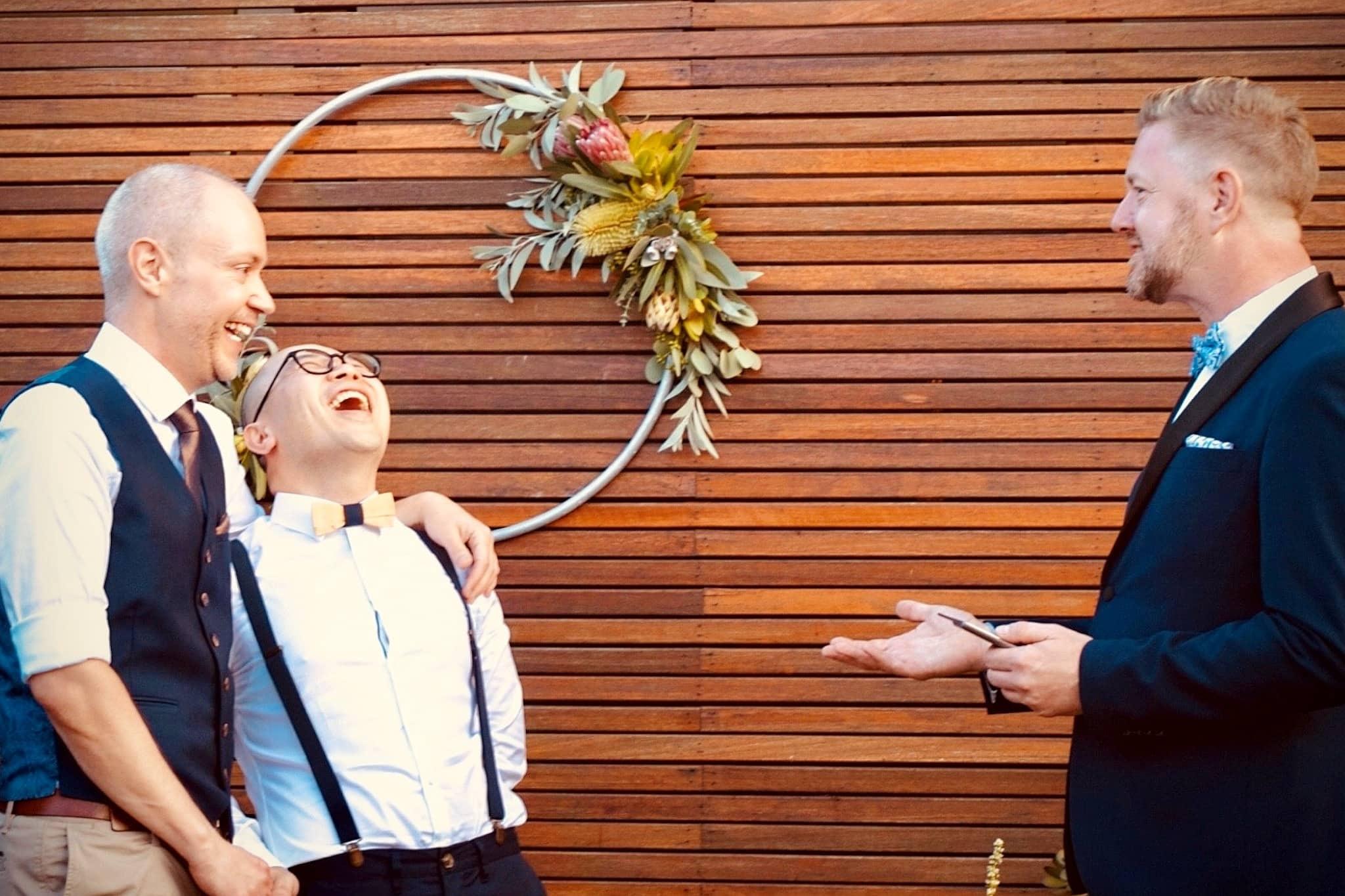 Darren and Johnsen Wedding - Stephen Lee Marriage Celebrant Sydney