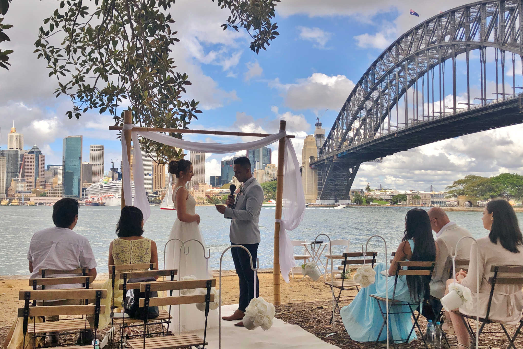 Sydney Harbour Wedding Styling - Stephen Lee Male Marriage Celebrant Sydney