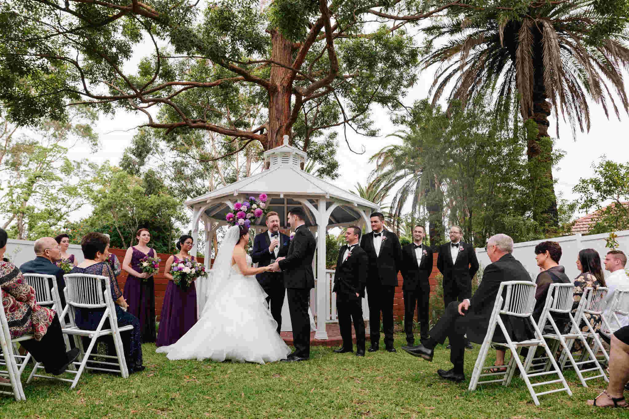 Cropley House Garden Wedding - Stephen Lee Marriage Celebrant Sydney Male