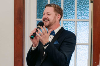 Stephen Lee Wedding MC at Cropley House Welcome LGBTQI