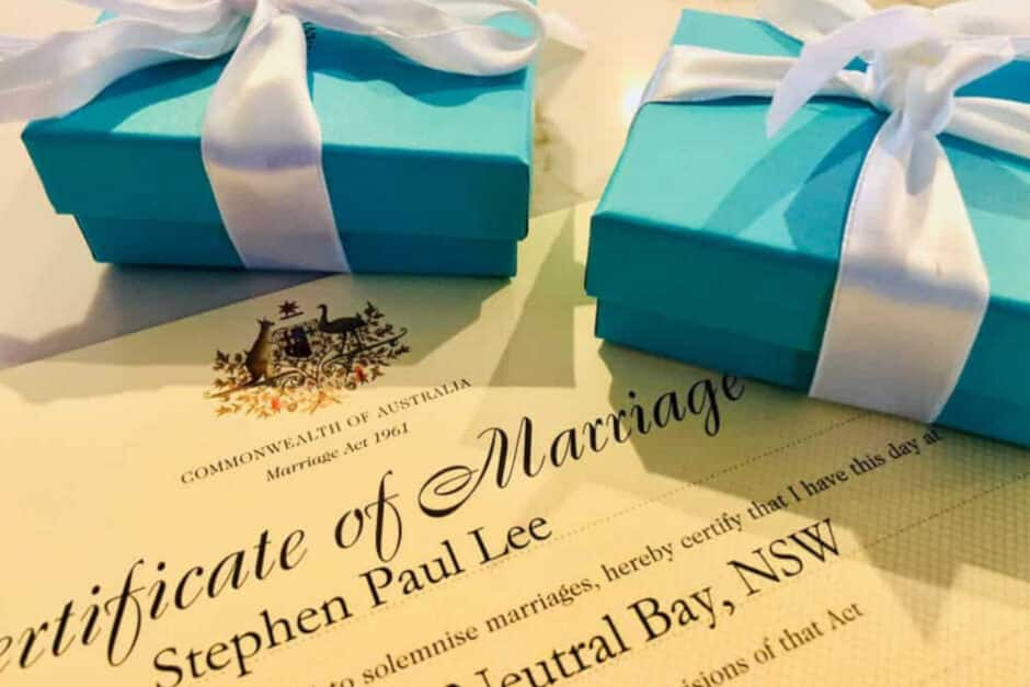 Sydney Marriage Celebrant Weddings Rings Certificate