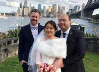 Jen and Jason Wedding Copes Lokout Bradfield Parrk - Sydney Marriage Celebrant Stephen Lee