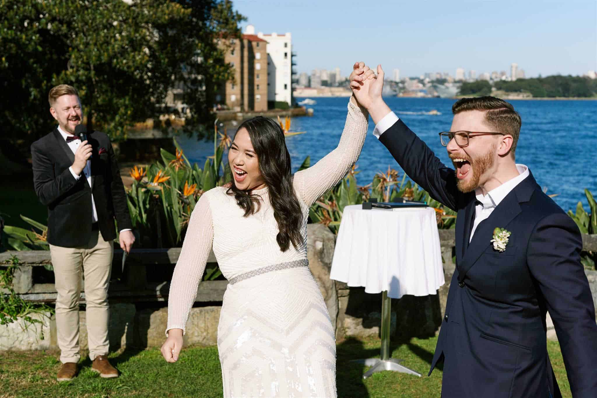 Copes Lookout Bradfield Park Wedding - Marriage Celebrant Sydney Stephen Lee